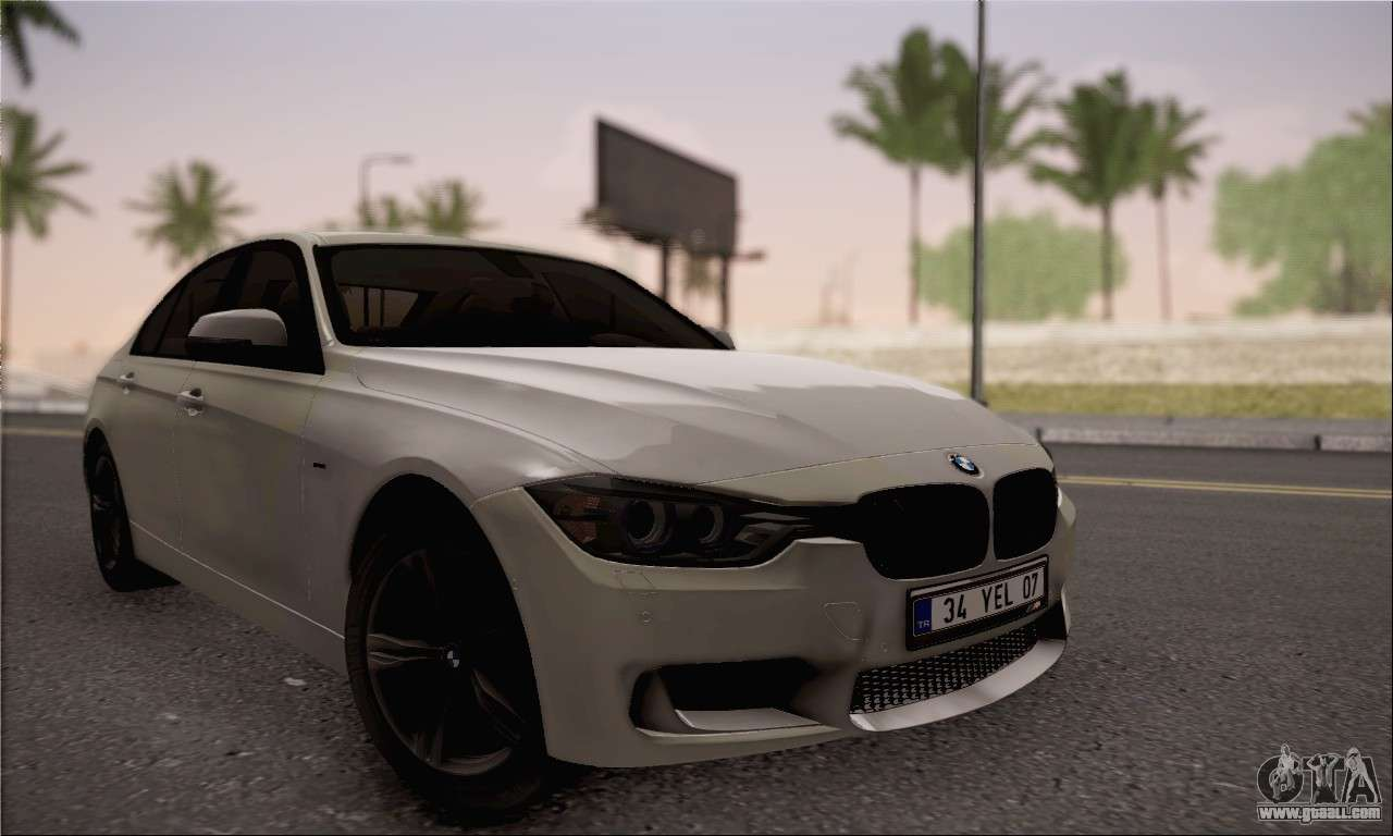 bmw f30 320d for gta san andreas. Black Bedroom Furniture Sets. Home Design Ideas