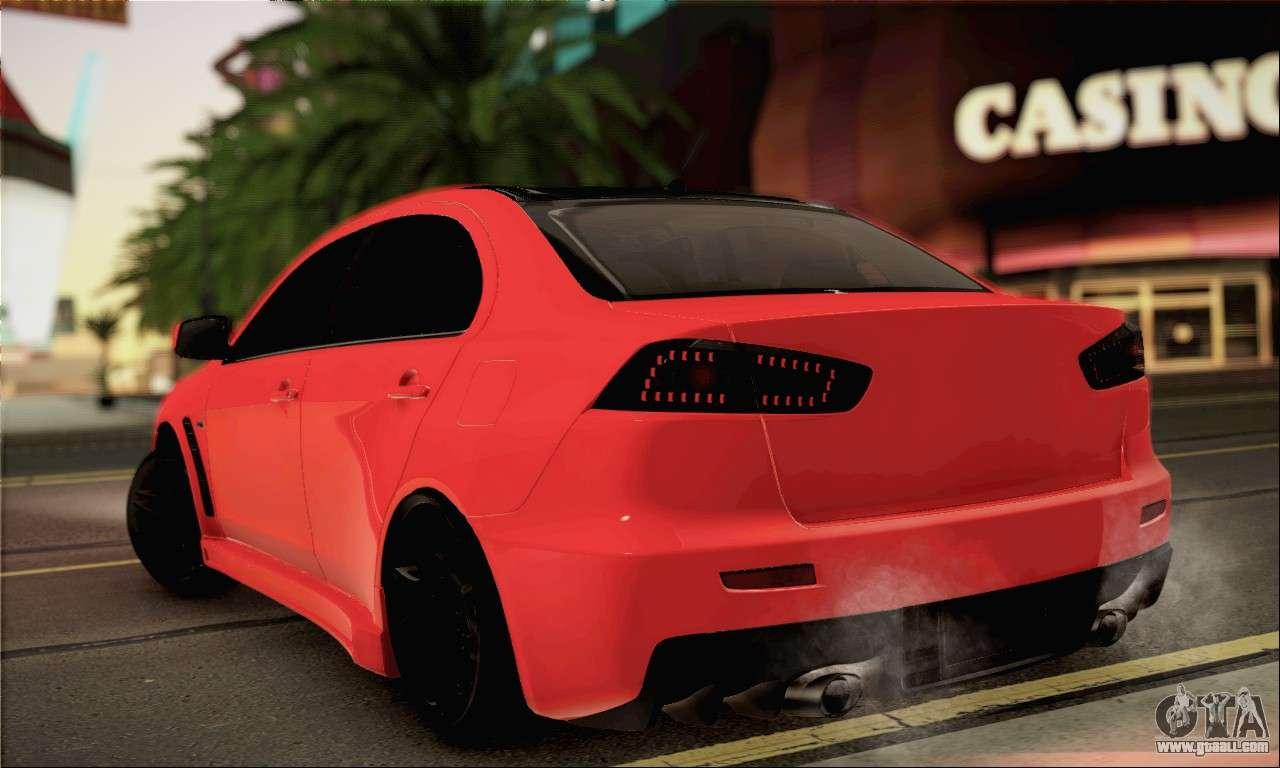 10 Passenger Vehicles >> Mitsubishi Lancer Evo X for GTA San Andreas