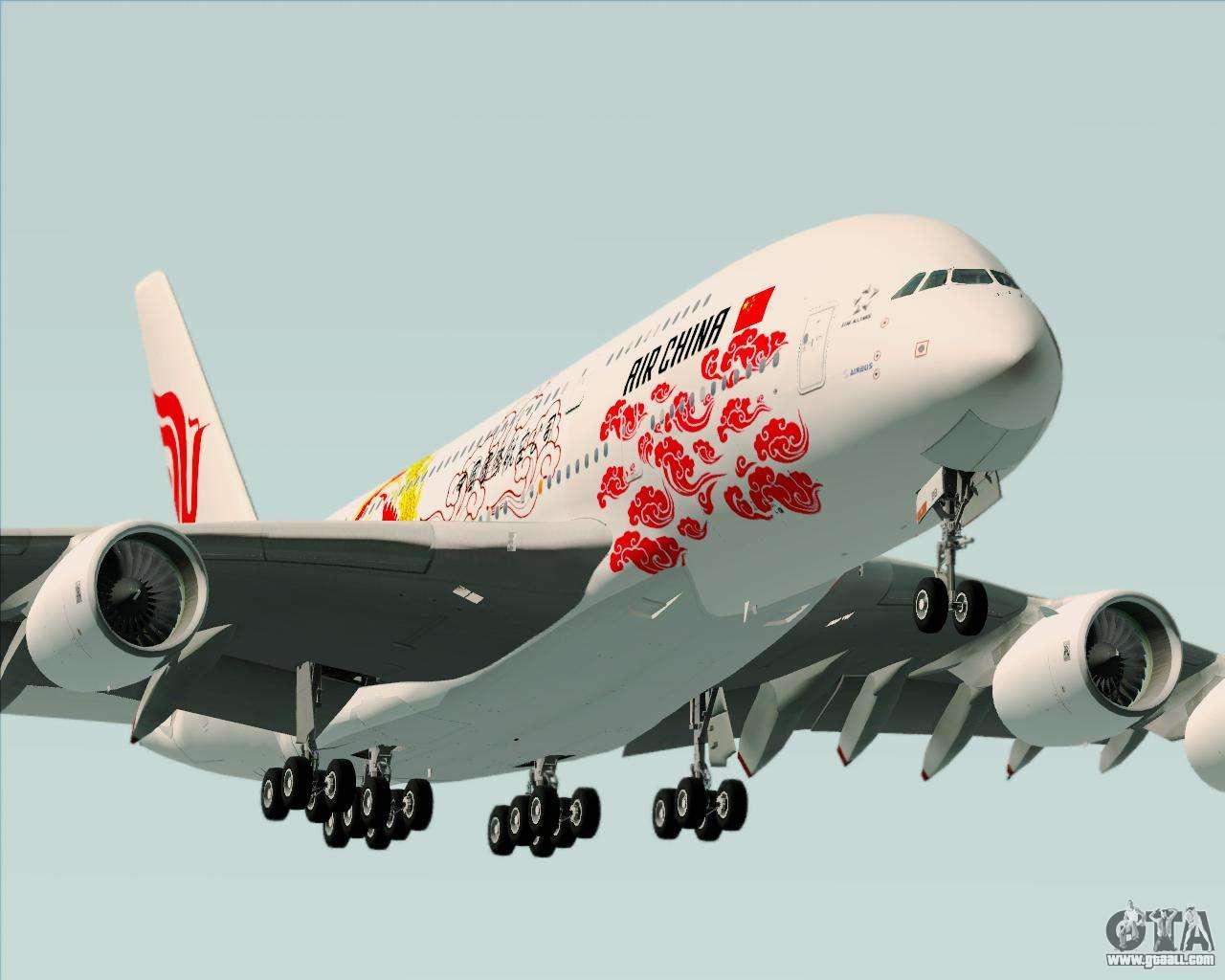 Airbus A380 800 Air China For Gta San Andreas