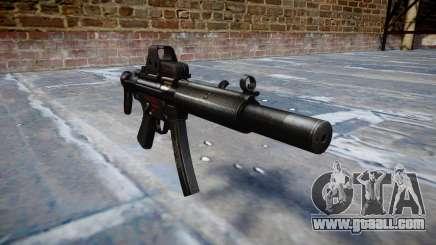 Gun MP5SD EOTHS CS b target for GTA 4