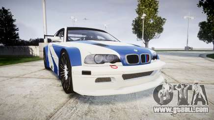 BMW M3 E46 GTR Most Wanted plate NFS-Hero for GTA 4