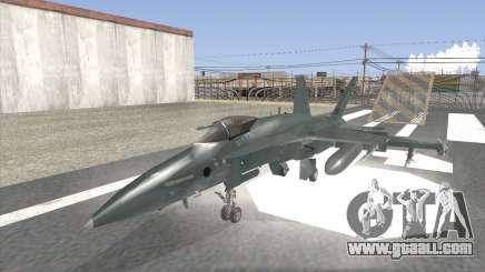 FA-18 Hornet Malaysia Air Force for GTA San Andreas