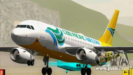 Airbus A319-100 Cebu Pacific Air for GTA San Andreas