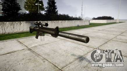 American sniper rifle SR-25 for GTA 4