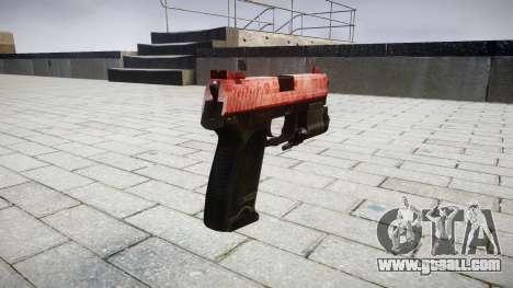 Gun HK USP 45 red for GTA 4 second screenshot