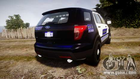 Ford Explorer 2013 Sheriff [ELS] v1.0L for GTA 4 back left view