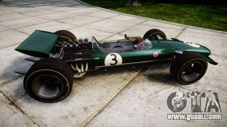 Lotus Type 49 1967 [RIV] PJ3-4 for GTA 4 left view