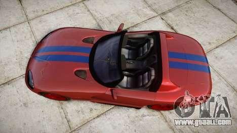 Dodge Viper RT-10 1992 for GTA 4 right view