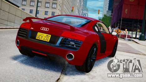 Audi R8 V10 Plus 2014 v1.0 for GTA 4 left view