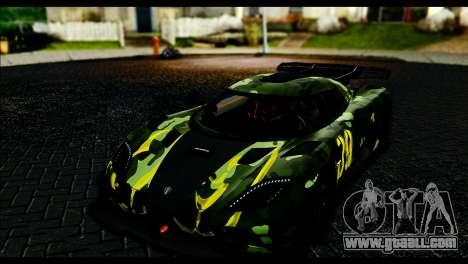 Koenigsegg One:1 v2 for GTA San Andreas inner view