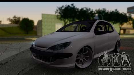 Peugeot 206 Drift JDM Style for GTA San Andreas