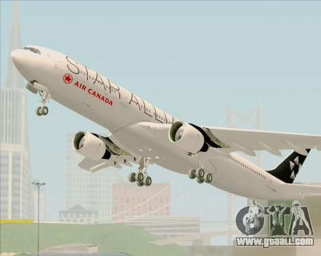 Airbus A330-300 Air Canada Star Alliance Livery for GTA San Andreas