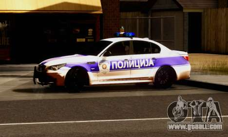 BMW M5 E60 POLICIJA for GTA San Andreas