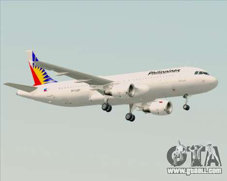 Airbus A320-200 Philippines Airlines for GTA San Andreas back left view