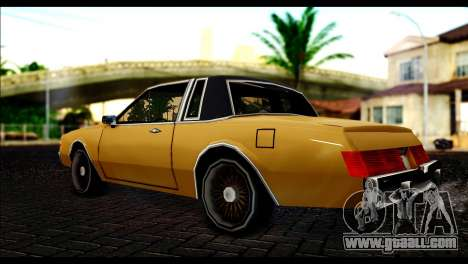 New Majestic for GTA San Andreas left view