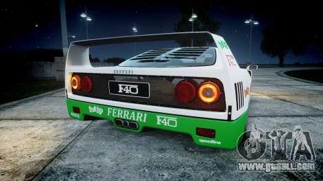 Ferrari F40 1987 [EPM] Jolly Club for GTA 4 back left view