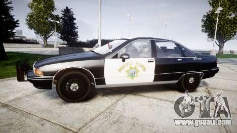 Chevrolet Caprice 1991 Highway Patrol [ELS] Slic for GTA 4 left view