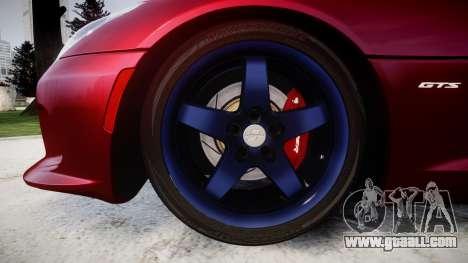 Dodge Viper SRT GTS 2013 for GTA 4 back view