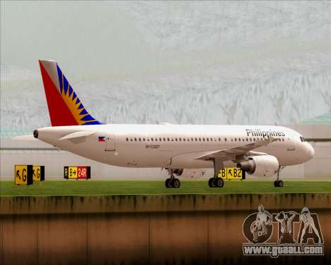 Airbus A320-200 Philippines Airlines for GTA San Andreas back view