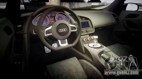 Audi R8 plus 2013 HRE rims for GTA 4 side view