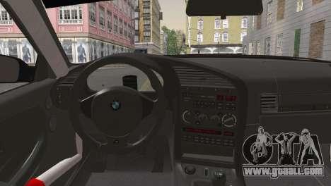 BMW M3 E36 Bridgestone v2 for GTA San Andreas back left view
