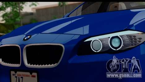 BMW M5 F10 2012 for GTA San Andreas side view