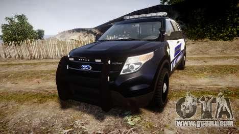 Ford Explorer 2013 Sheriff [ELS] v1.0L for GTA 4