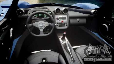 Pagani Zonda C12 S 7.3 2002 PJ4 for GTA 4 inner view