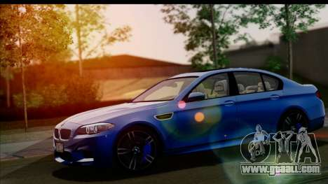 BMW M5 F10 2012 for GTA San Andreas bottom view