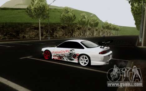 Nissan Silvia S14 VCDT V2.0 for GTA San Andreas back view
