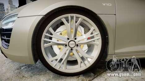 Audi R8 V10 Plus 2014 for GTA 4 back view