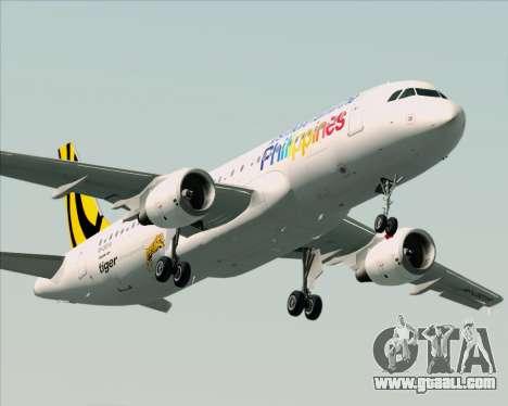 Airbus A320-200 Tigerair Philippines for GTA San Andreas engine