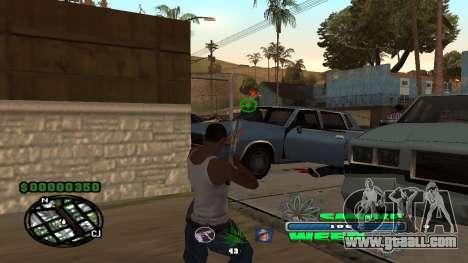C-HUD Smoke Weed for GTA San Andreas third screenshot