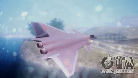 Chenyang J-20 Air Force BF4 for GTA San Andreas left view