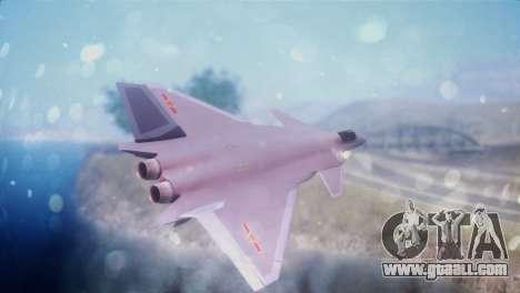 Chenyang J-20 Air Force BF4 for GTA San Andreas left view