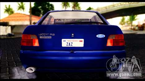 Ford Escort RS Cosworth for GTA San Andreas inner view