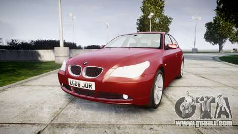 BMW 525d E60 2006 for GTA 4
