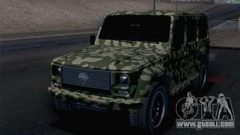 GTA 5 Benefactor Dubsta IVF for GTA San Andreas side view
