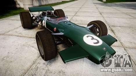 Lotus Type 49 1967 [RIV] PJ3-4 for GTA 4