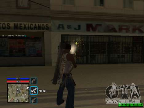 C-HUD Only Ghetto for GTA San Andreas forth screenshot