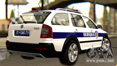 Skoda Octavia Scout Police for GTA San Andreas left view