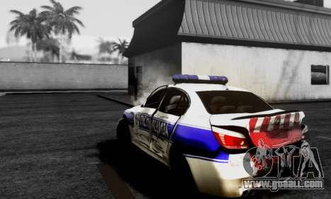 BMW M5 E60 POLICIJA for GTA San Andreas back left view