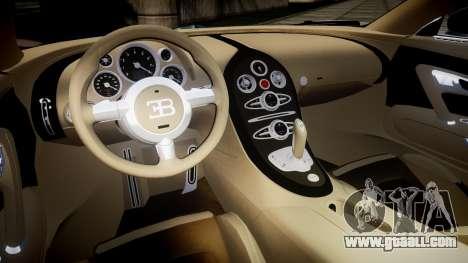 Bugatti Veyron 16.4 v2.0 for GTA 4 inner view