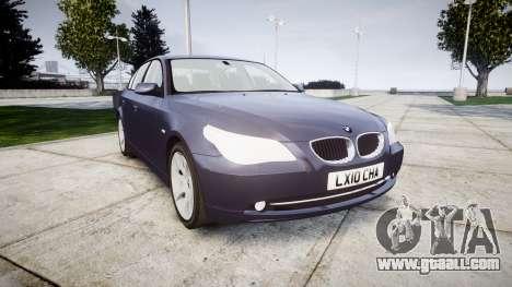 BMW 525d E60 2009 for GTA 4