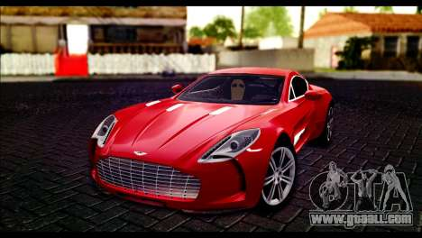 Aston Martin One-77 Black Beige for GTA San Andreas
