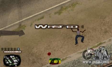 C-HUD Rasta for GTA San Andreas forth screenshot