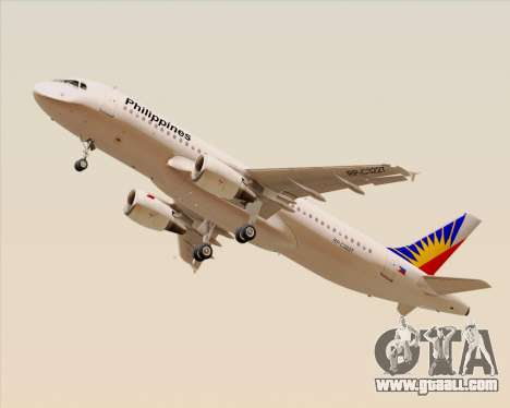Airbus A320-200 Philippines Airlines for GTA San Andreas right view