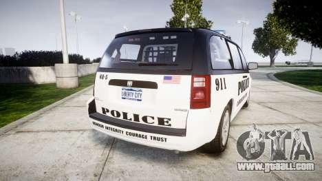 Dodge Grand Caravan LCPD [ELS] for GTA 4 back left view