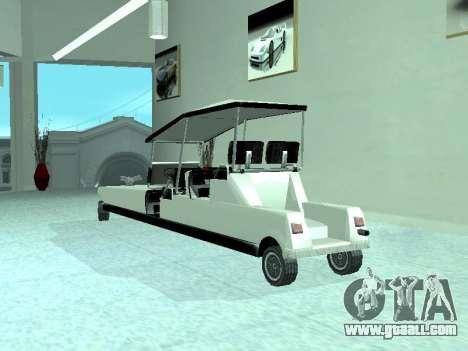 Limgolf for GTA San Andreas back view