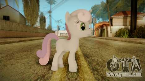 Sweetiebelle from My Little Pony for GTA San Andreas